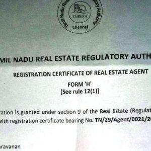 Saravanan-RERA-Agent-Registration