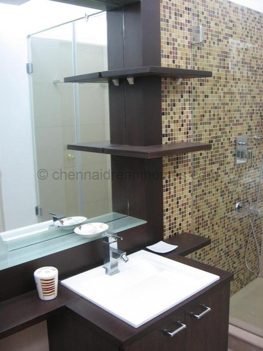 Flat for Sale in Besant Nagar 3 BHK Furnished AC Luxury  : master bath 1 from chennaidreamhomes.com size 850 x 1133 jpeg 114kB